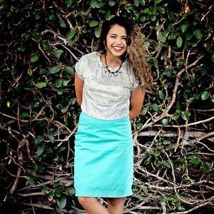 Tiffany Blue Pencil Skirt